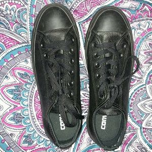 Converse leather low tops